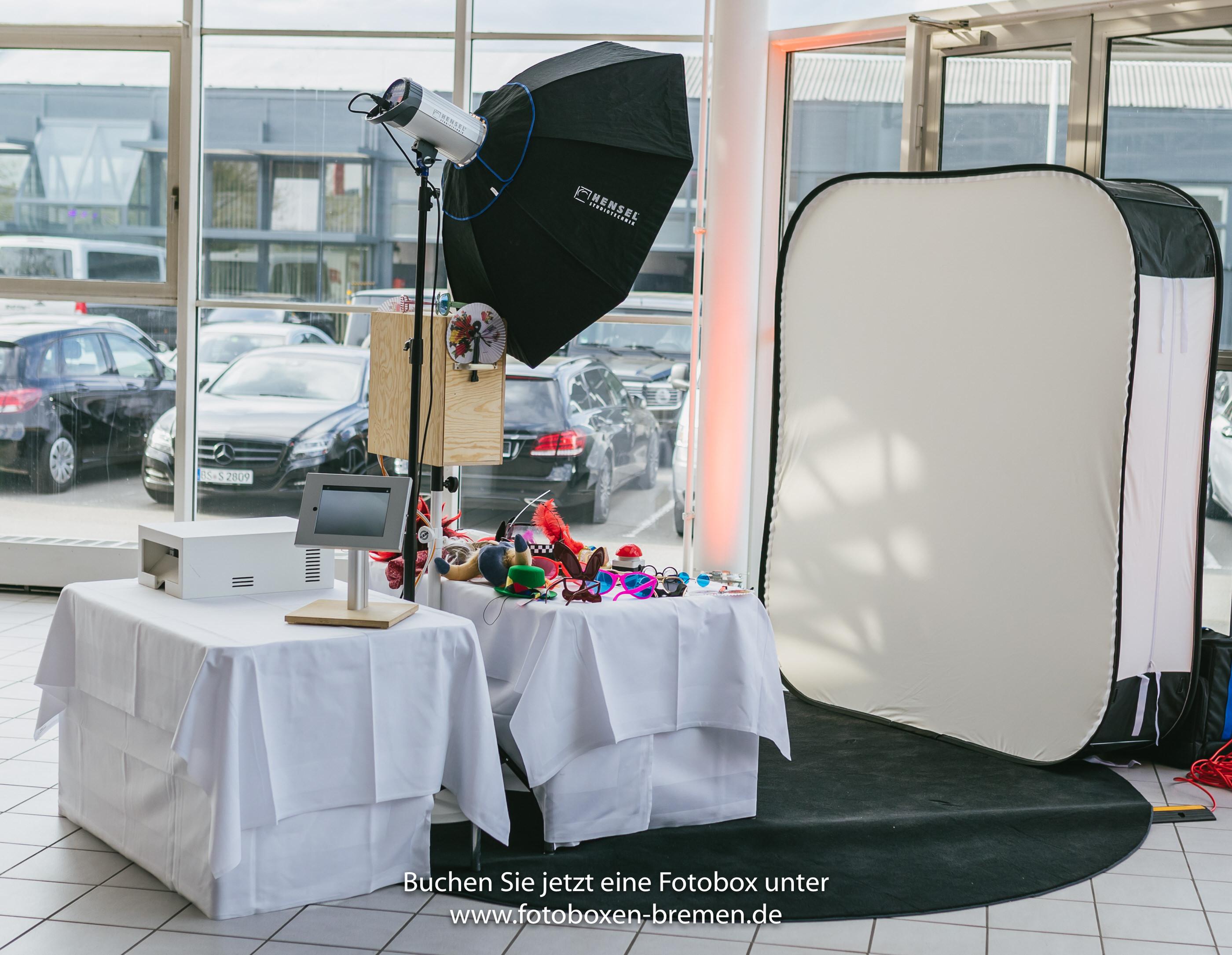 Fotobox für Betriebsfeier im Autohaus