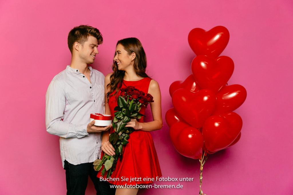 Fotobox für den Valentinstag