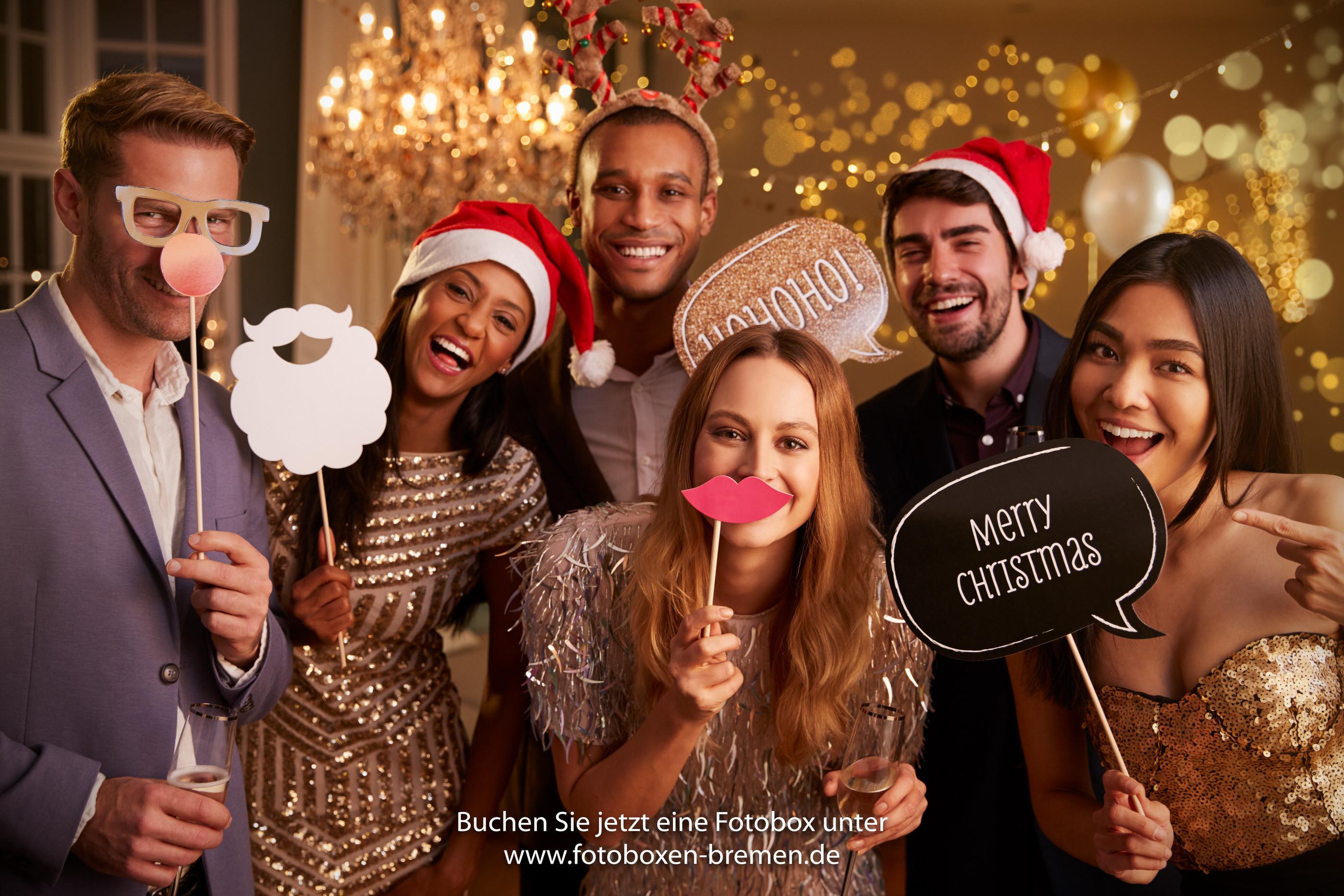 Fotobox für die Weihnachtsfeier