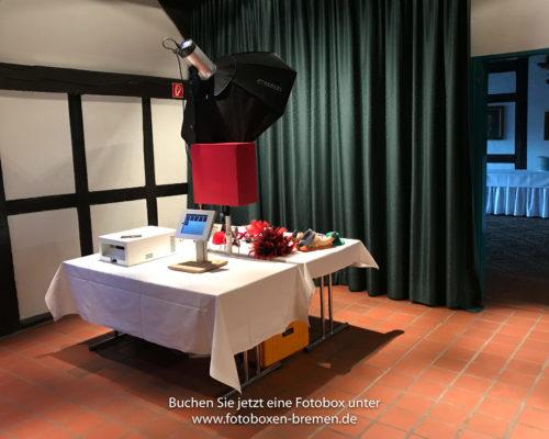 Fotobox für Silberhochzeit mit Druckfunktion