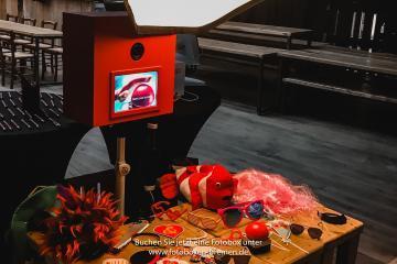 Fotobox auf einer Weihnachtsfeier in der Union Brauerei Bremen