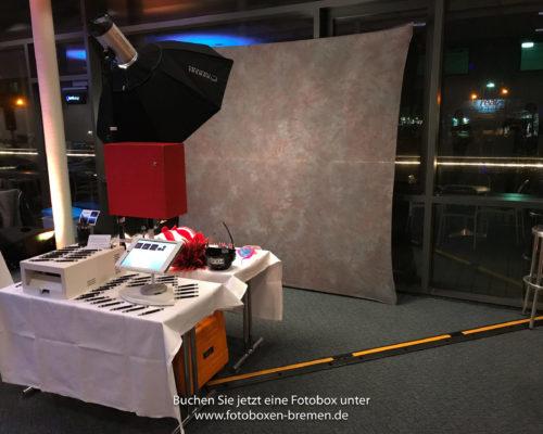 Fotobox für eine Weihnachtsfeier im Atlantic Hotel Galopprennbahn Bremen