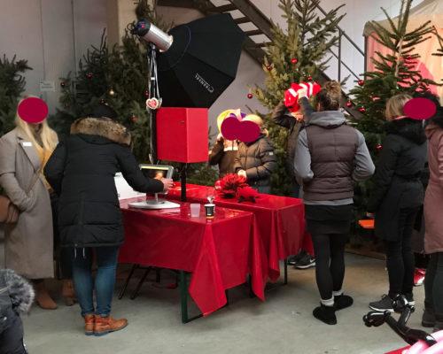 Fotobox auf einer Weihnachtsfeier in Stuhr