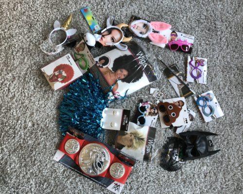 Accessoires zum verkleiden bei einer Fotobox