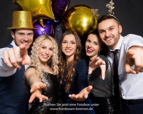 Fotobox für Silvester oder den Neujahrsempfang in Bremen