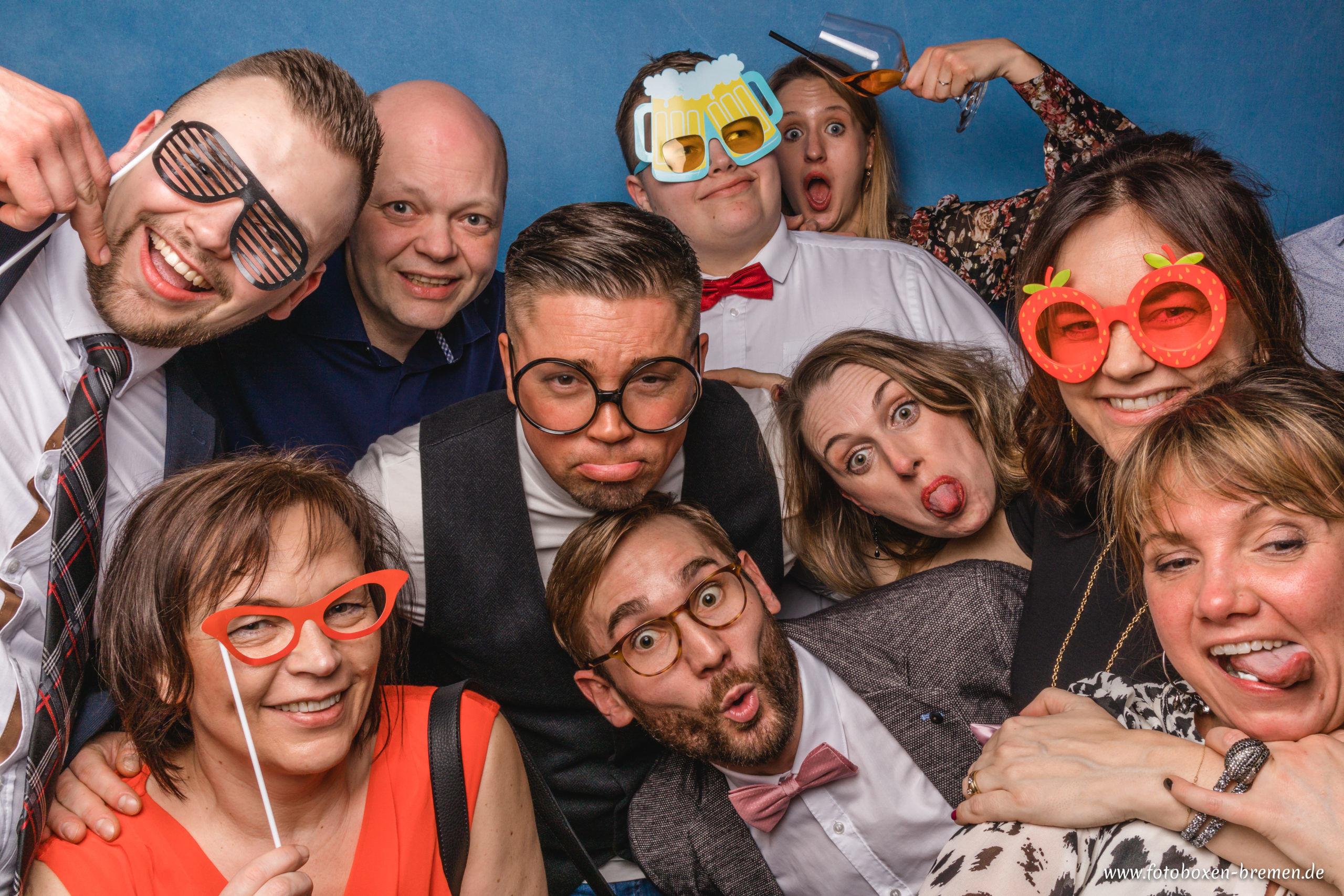 Fotobox Bremen auf einem Geburtstag